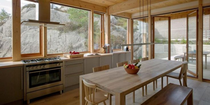 http://taizh.com/wp-content/uploads/2014/10/exciting-kitchen-design-idea-with-rectangular-wooden-dining-table-also-wide-glass-wall-to-look-stone-mountain-as-well-long-backsplash-stove-the-middle.jpg