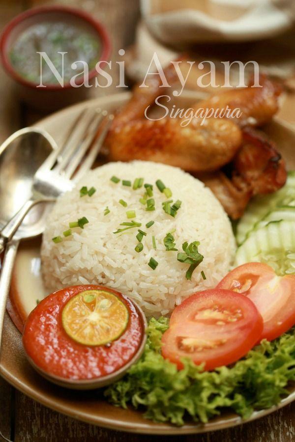 masam manis: Nasi Ayam Singapura yang ringkas dan mudah
