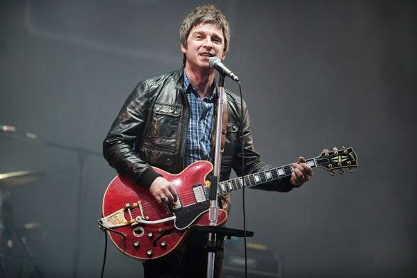 Noel Gallagher performs in Kinross, United Kingdom.