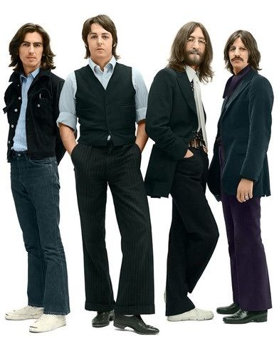 George Harrison, Paul McCartney, John Lennon, and Richard Starkey (1969)