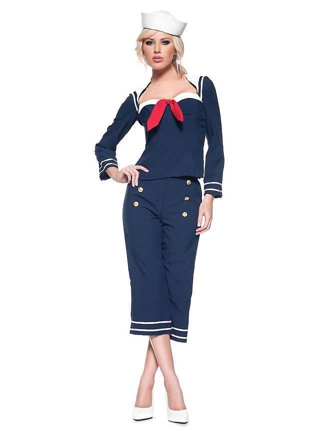 Navy Matrosin Kostüm ★ online bestellen ★ maskworld.com                                                                                                                                                                                 Mehr