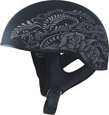 New Gmax Gm65 Rose Women's Half Dot Motorcycle Helmet Harley indian scooter