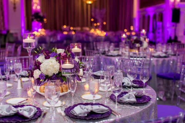 Purple and silver reception    #wedding #weddings #weddingideas #aislesociety #engaged #purpleweddings