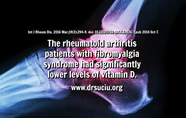Picture drsuciu Vitamin D, rheumatoid arthritis and fibromyalgia