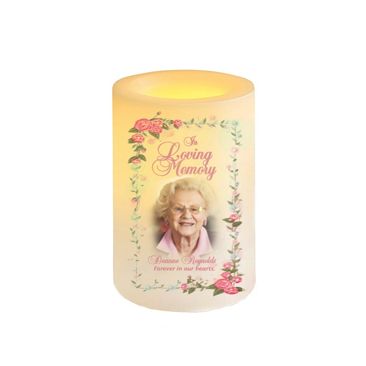 Blush Flameless LED Candle with Vanilla Scent