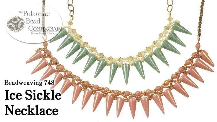 """Best Seed Bead Jewelry  2017  Make an  """"Ice Sickle"""" Necklace  Seed Bead Tutorials"""