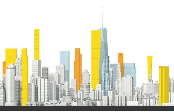 Новые небоскребы Нью-Йорка. Нижний Манхэттен. : samsebeskazal