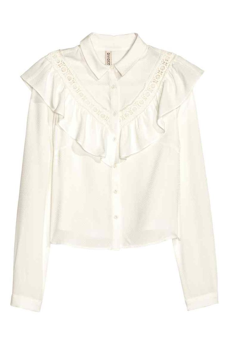 Блузка с оборками   H&M