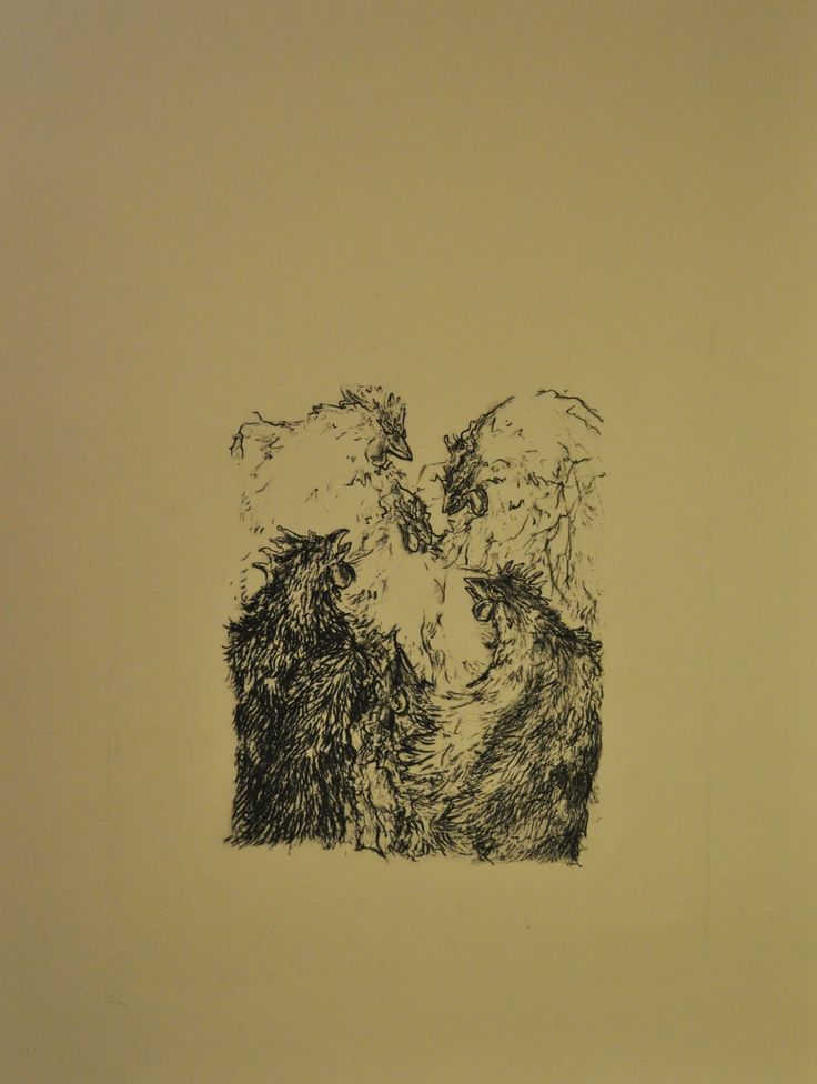 Przekupy, Joanna Cisek, , litografia, 50 x 40cm, 2015 r