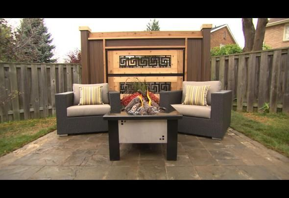 "Sitting Area Using The Greek Key Topper Used On ""Decked Out"""