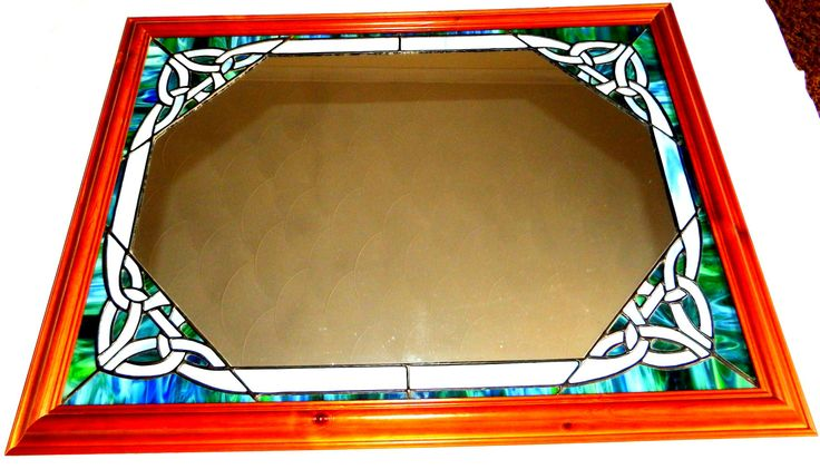 Celtic Mirror - handmade stained glass