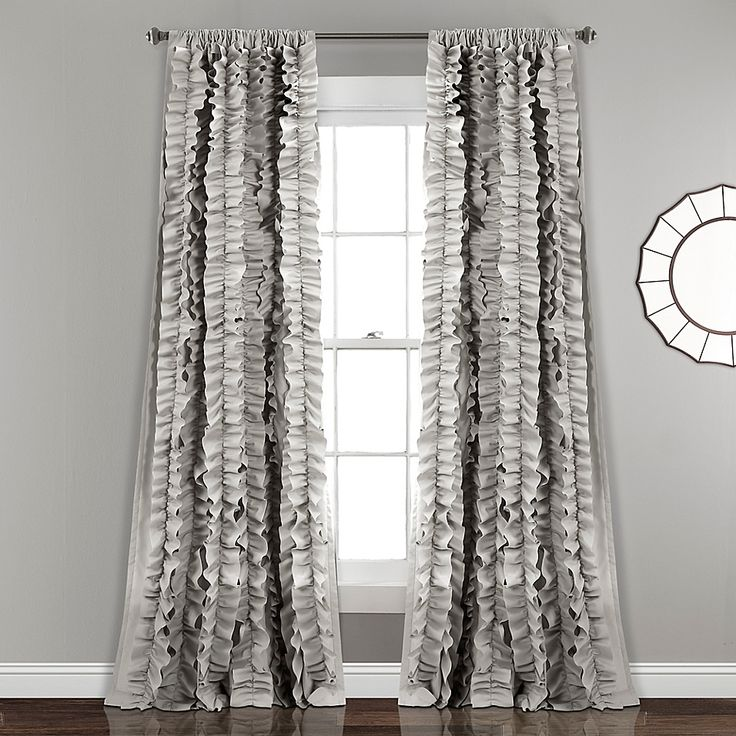 Belle 84 Inch Rod Pocket Window Curtain Panel In Grey In 2020 Lush Decor Curtains Panel Curtains
