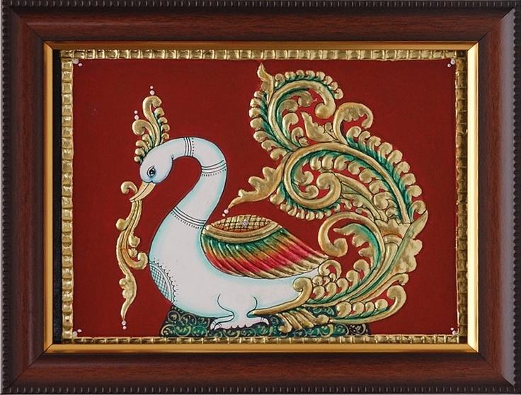 Tanjore Paintings - Pracock