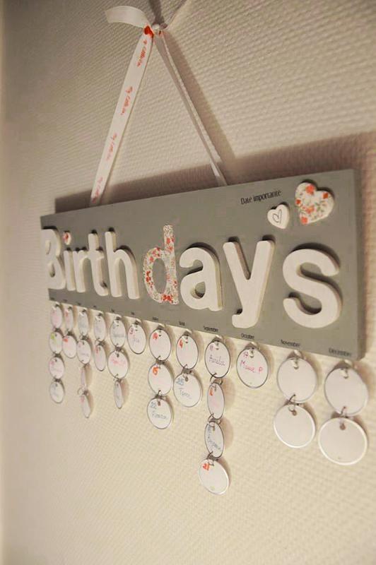 Mon calendrier d'anniversaire