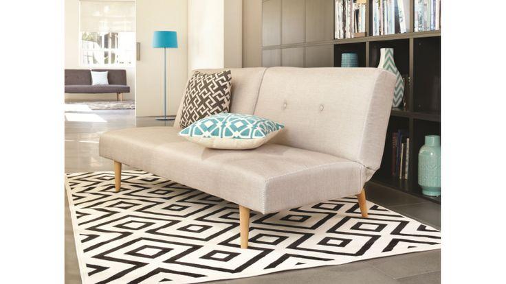 Athens sofa bed dark grey fabric harvey norman new for Sofa bed new zealand