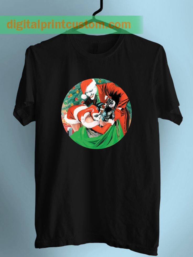 Batman Joker and Harley Quinn Christmas Unisex T Shirt  #batman #harleyquinn #christmas #parody #joker #lol #santa #uglychristmas #funny #tshirts #men #women