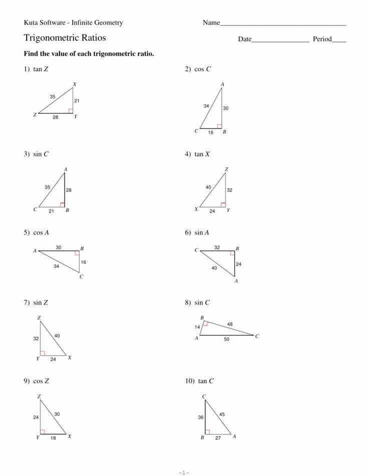 50 Trigonometric Ratios Worksheet Answers in 2020 ...