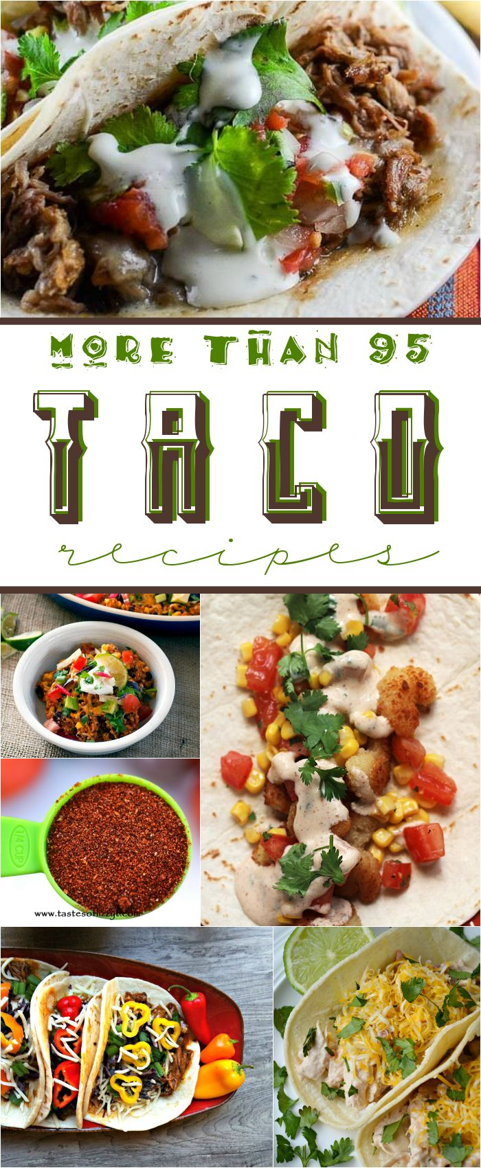 More than 95 TACO recipes! There's something for everyone!