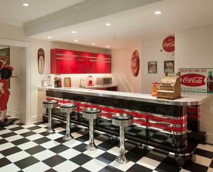 Cocina estilo cafetería años 50