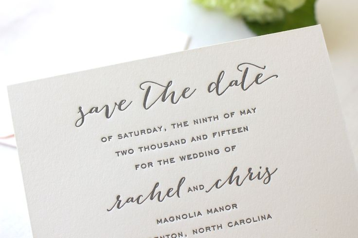 The Magnolia Suite - Letterpress Wedding Save the Date Invitation Grey Black Kraft Paper Bag Blush Pink Calligraphy Modern Rustic #Pink #Wedding #PinkWedding #Paper