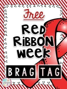 FREE drug free brag tag for Red Ribbon Week