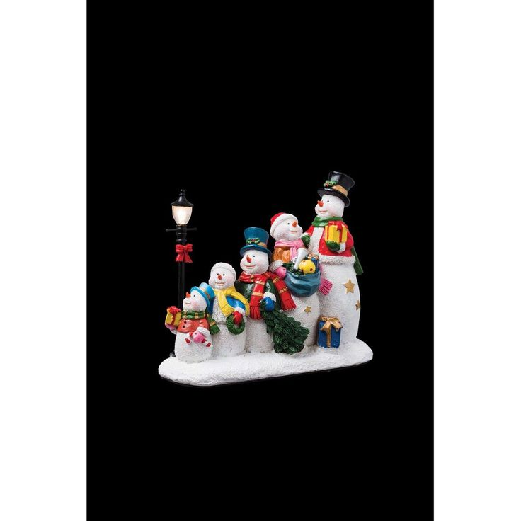 Santons lumineux de Noël – 6 Bonhommes de neige