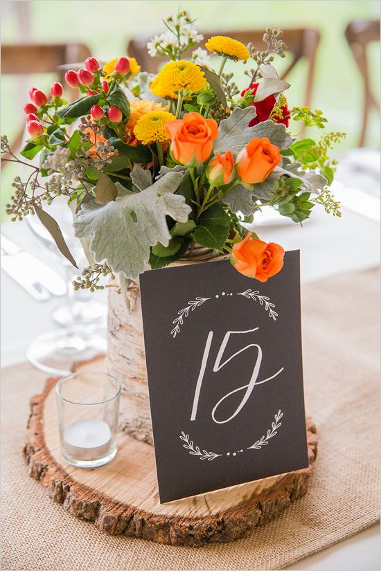 rustic chalkboard style table numbers @weddingchicks