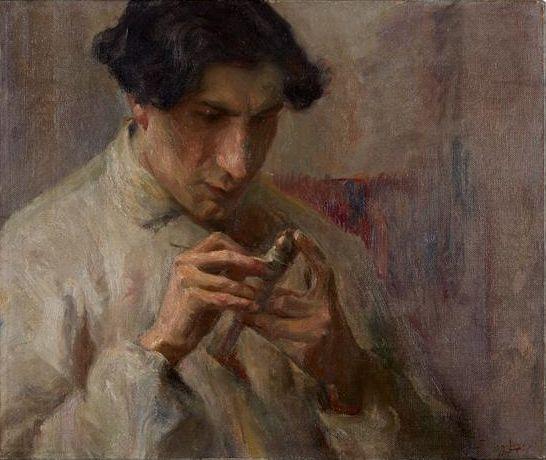 File:O Cinzelador (1905) - Adriano de Sousa Lopes.png