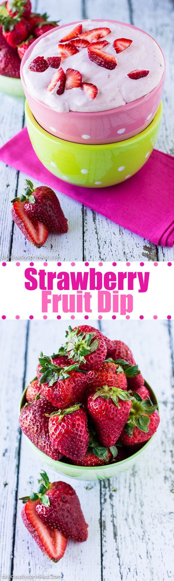 Strawberry Fruit Dip- always a HUGE hit at a BBQ party! It's so easy to make too...
