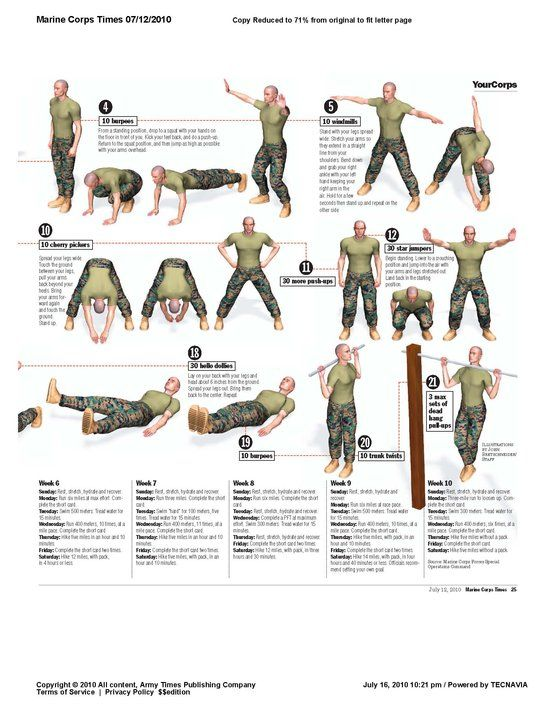 Morning Calisthenics, Marine Corps Style!