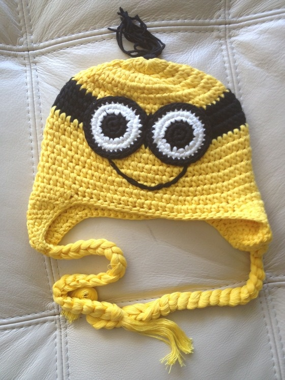 Crochet handmade by Sara Molano Artist yellow hat craft artist fun fashion $18.00