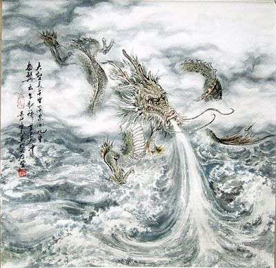 Tianlong, the Celestial Dragons, are the celestial dragons who pull the chariots of the gods and guard their palaces