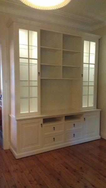 Custom TV Entertainment Wall Unit - St Ives Premises - Canalside Interiors