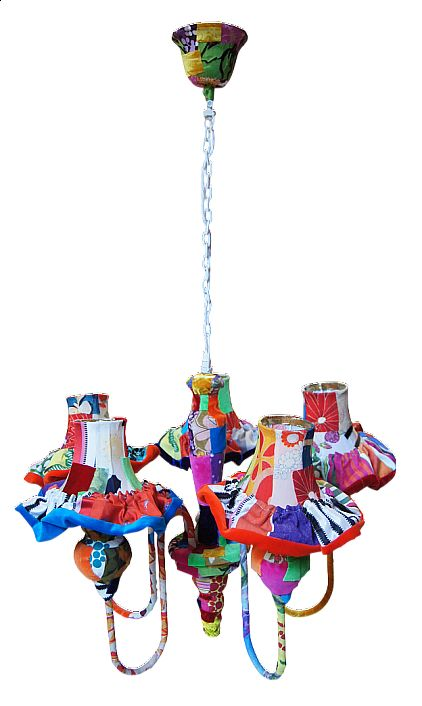Multicoloured chandelier