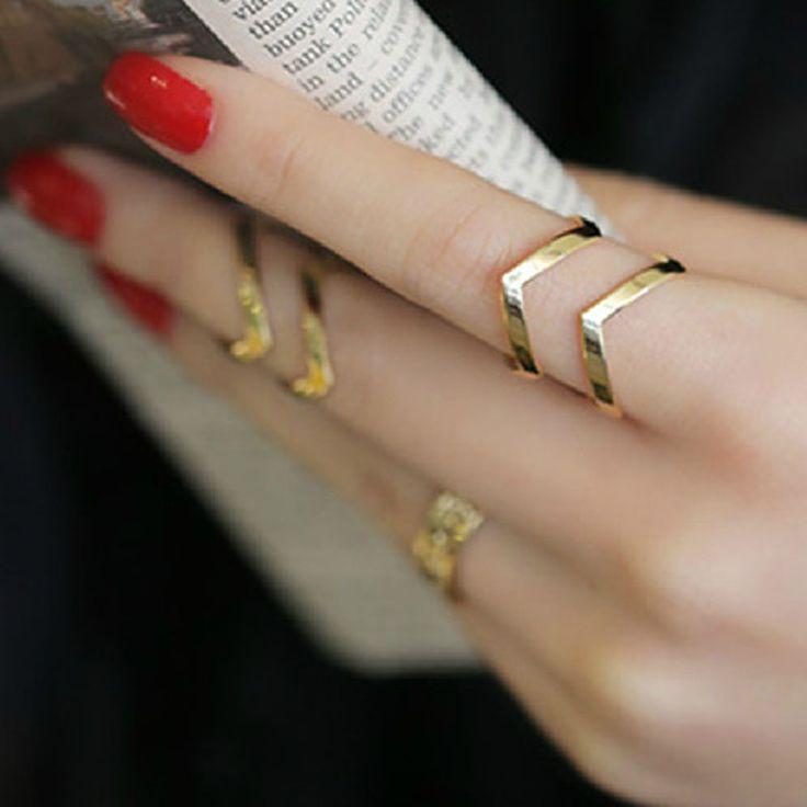 Accessori di moda gioielli Nuovi punk anello dito bracciale set regalo per le donne ragazza all'ingrosso R1364