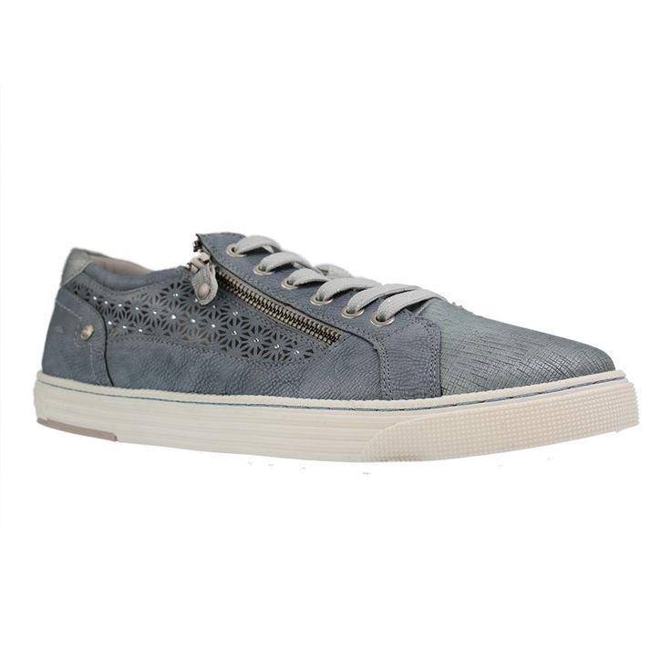 MUSTANG - 1246-301 - Damen Sneaker - Blau Schuhe in Übergrößen Gr 43, 44, 45