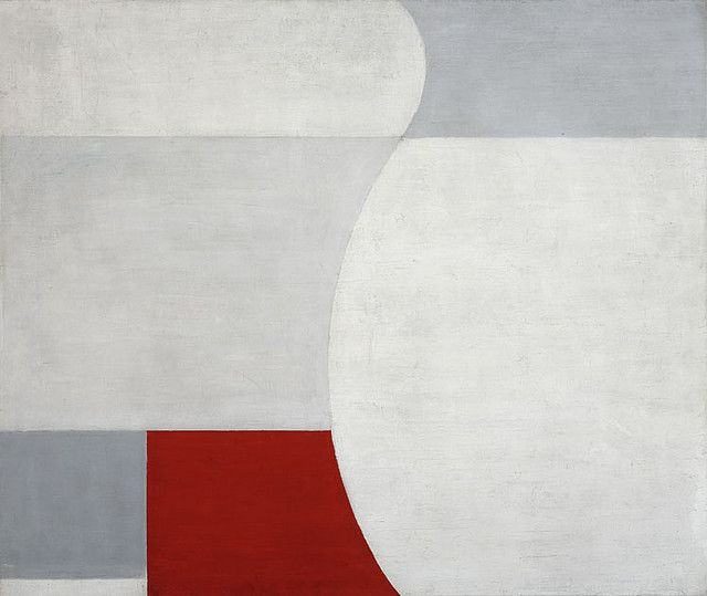"""Henryk Stazewski """"White-Red Composition"""", 1932 (re-created in 1956), oil on canvas"""