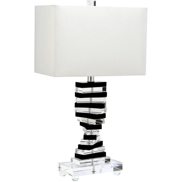 Martin Table Lamp ($315) ❤ liked on Polyvore featuring home, lighting, table lamps, black shades, piano lamp, onyx lamp, contemporary lighting and contemporary modern lighting