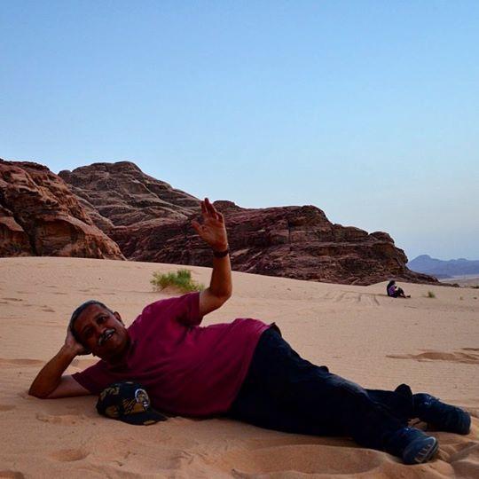 Lying on the #sand I feel one with it. The #desert doesn't hurt you one bit! #WadiRum #Jordan #travel #GrabYourDream #TravelAdventurer