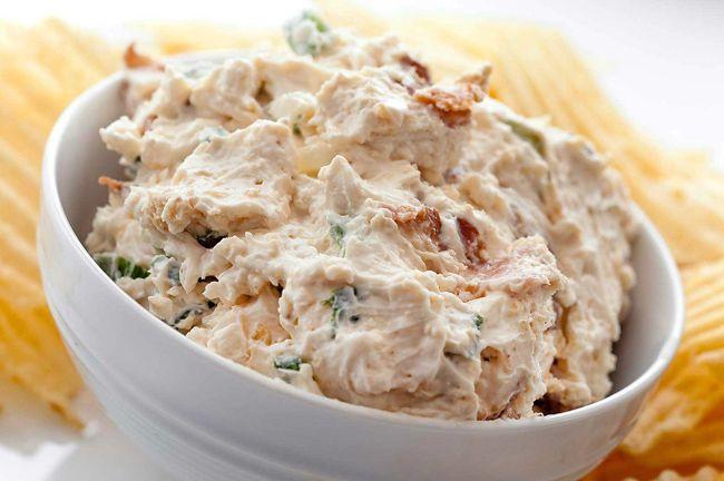 Los mejores dips para fiestas: Dip de pollo con queso crema | RevistaRutaGourmet