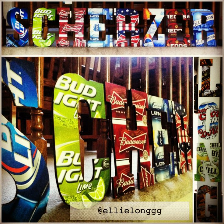 My all time favorite craft, beer letters! #beer #DIY