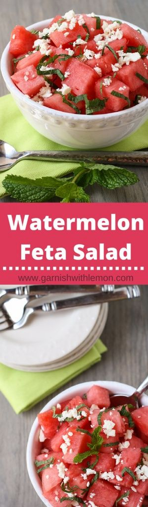 Add some variety to your summer BBQ menu with this sweet and savory Watermelon Feta Salad recipe.