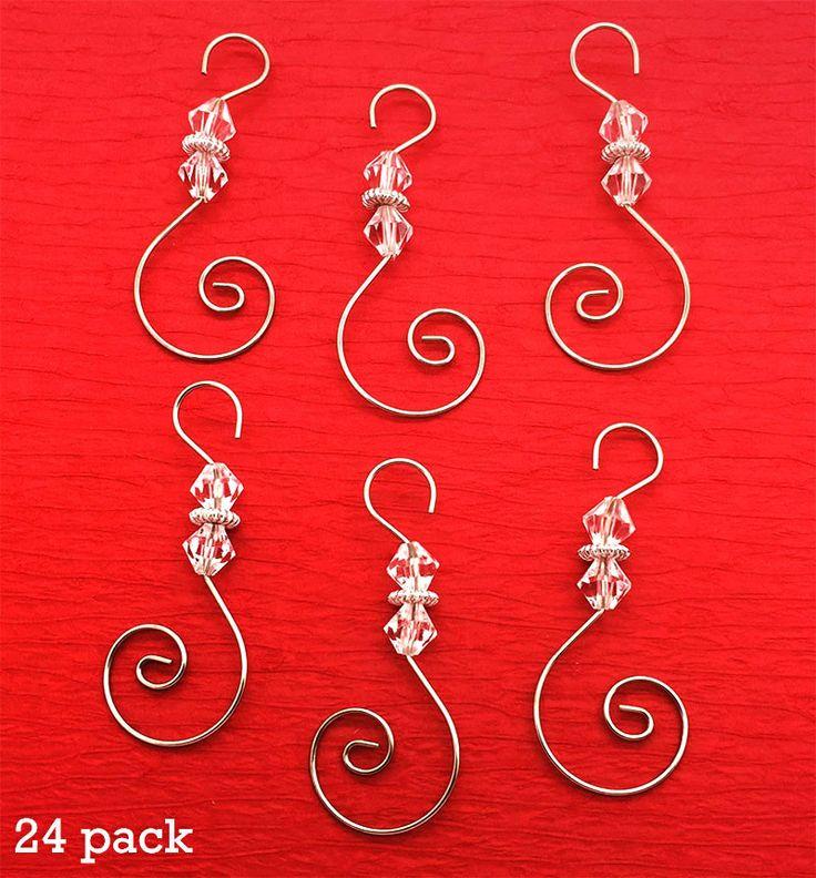 Алмазный пакет из 24 закрученных бисера Рождественские украшения Крючки