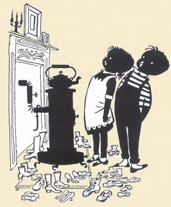 Op 13 september 1952 verscheen de eerste aflevering van 'Jip en Janneke' in Het Parool. 'Een brief aan Sin-ter-klaas' werd voor het eerst gepubliceerd in Het Parool van 14 november 1953 en in 1954 opgenomen in De groe-ten van Jip en Jan-ne-ke. De illustratie is natuurlijk van Fiep Westendorp.