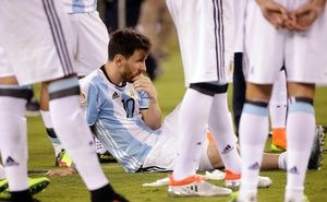 Lionel Messi sensationally announced his retirement from international football here Sunday after Argentina crashed to an upset defeat against Chile in the final of the Copa America.