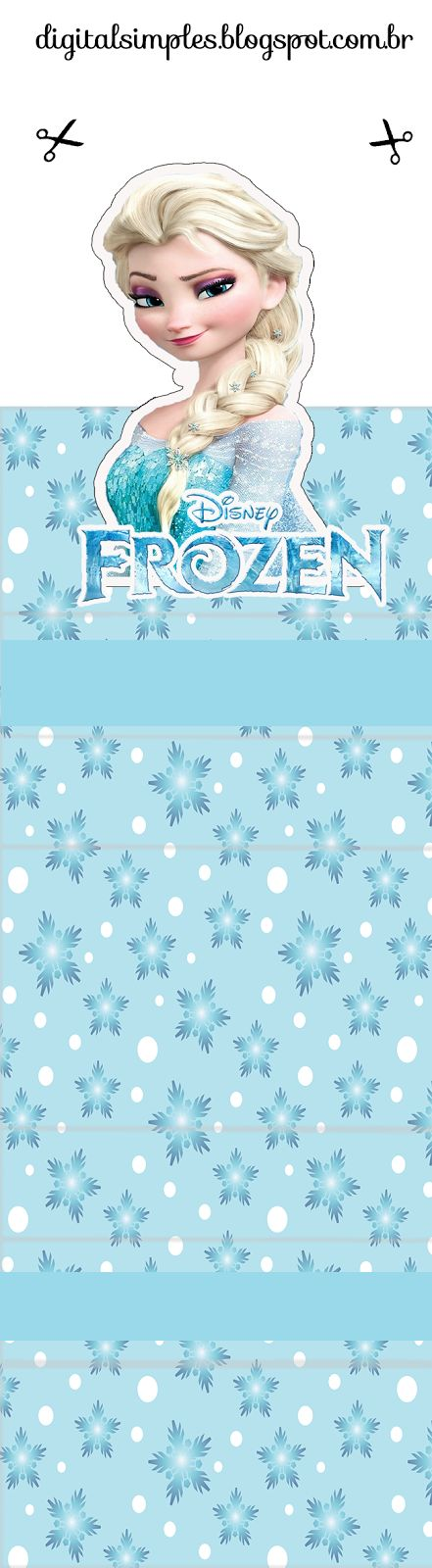 Frozen: Free Printable Original Nuggets or Gum Wrappers.