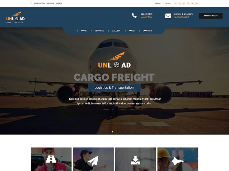 Unload is a professional WordPress theme for the logistics, cargo or transport niches. It offers useful features like a shipment tracking system and more.