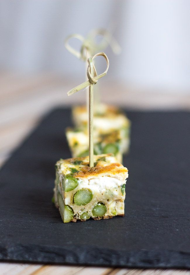 2987 best coctail party snacks images on pinterest canapes food asparagus goat cheese frittata simple to make delicious hot or cold forumfinder Choice Image