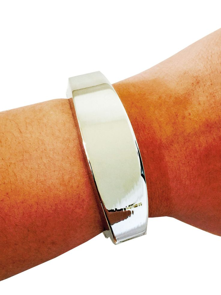 Fitbit Bracelet for Fitbit Flex Activity Trackers - The TORY Silver Bangle Fitbit Bracelet by Funktional Wearables Fitness Tracker Jewelry and Accessories