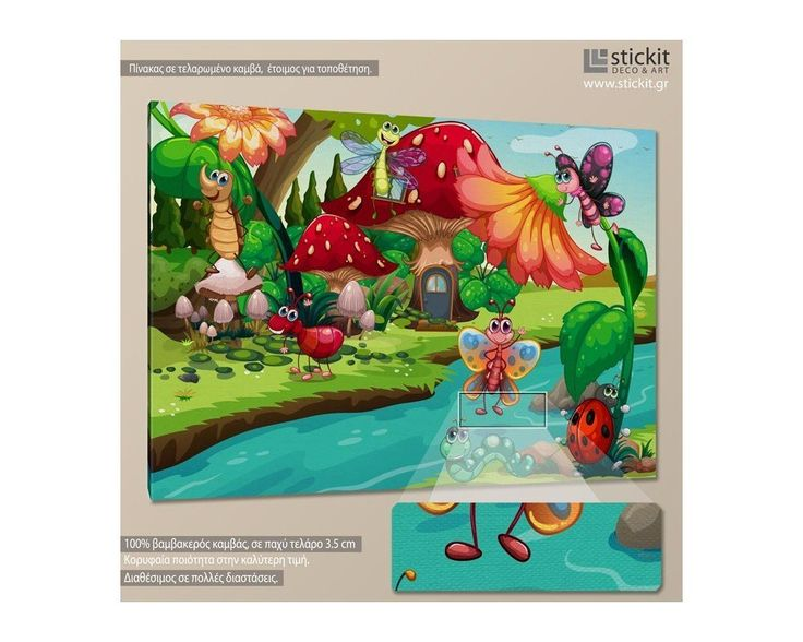 Bug life, παιδικός - βρεφικός πίνακας σε καμβά,14,90 €,https://www.stickit.gr/index.php?id_product=18980&controller=product